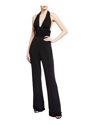 Misha Collection Sina Jersey Halter Jumpsuit