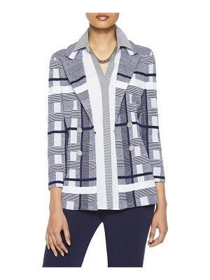 Misook Bold Plaid Knit Blazer