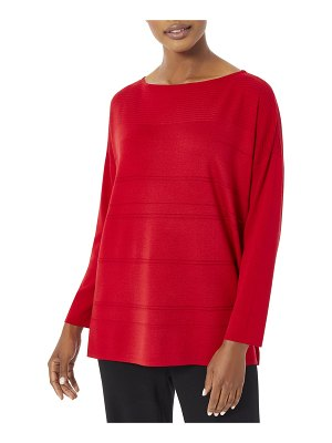 Misook Relaxed Tonal Stripe Knit Tunic