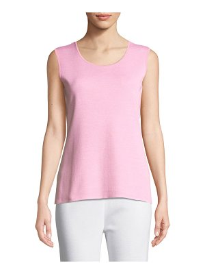 Misook Scoop-Neck Melange Tank