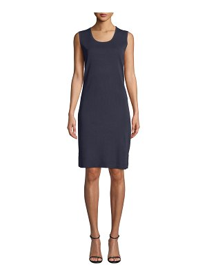 Misook Scoop-Neck Sleeveless Knee-Length Sheath Dress