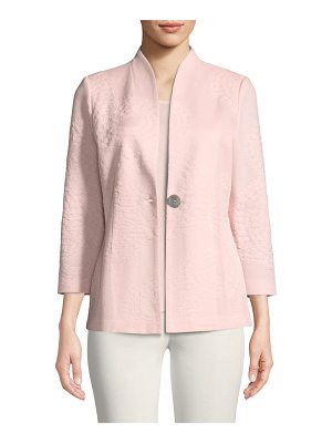Misook Textured One-Button Jacket