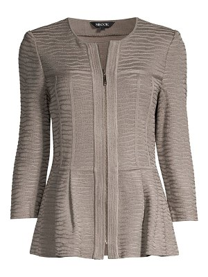 Misook textured peplum jacket