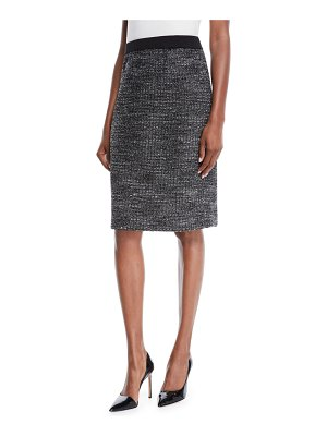 Misook Tweed Knit Pencil Skirt
