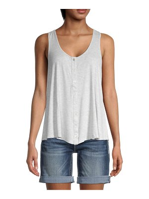 Miss Me Button-Front Tank Top