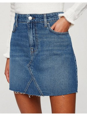 Miss Selfridge denim mini skirt in mid blue