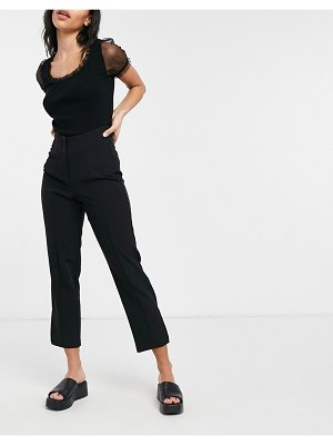 Miss Selfridge high waisted tailored pants in black