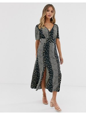 Miss Selfridge maxi tea dress in floral print
