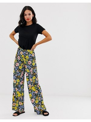 Miss Selfridge wide leg pants in floral print