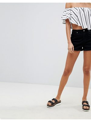 MISSGUIDED Riot High Rise Denim Shorts