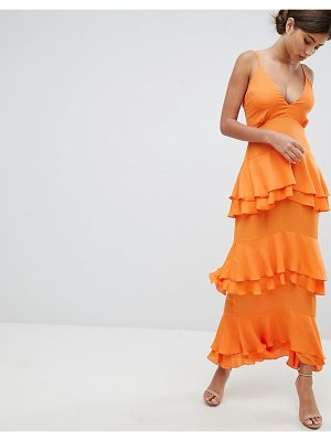 MISSGUIDED Strappy Tiered Maxi Dress
