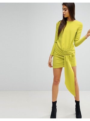 MISSGUIDED Twist Front Mini Dress