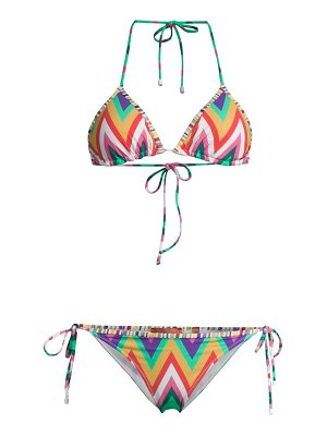 Missoni colorful zigzag 2-piece bikini set
