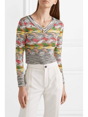 Missoni cropped wool-blend sweater