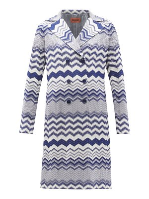 Missoni double-breasted zigzag-knit trench coat