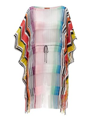 Missoni drawstring-waist striped cover up