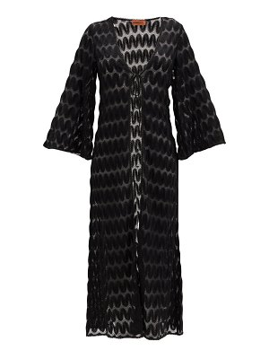 Missoni fluted-sleeve chevron-striped robe