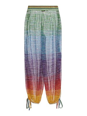 Missoni iridescent stripe sheer trousers