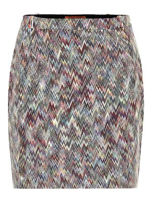 Missoni knitted wool miniskirt