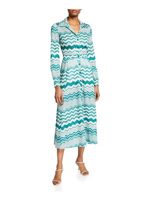 Missoni Long Zigzag Knit Shirtdress