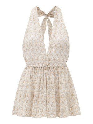 Missoni Mare chevron-stripe lace-knitted playsuit
