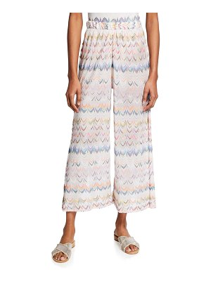 Missoni Mare Coverup Wide-Leg Cropped Trousers