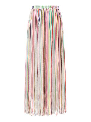 Missoni Mare fringed striped maxi skirt