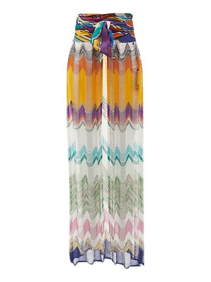 Missoni Mare high-rise striped abstract-jacquard sarong