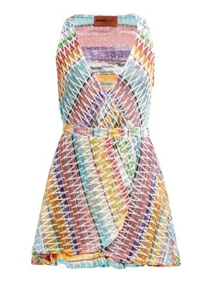 Missoni Mare knitted cotton blend mini dress