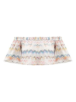 Missoni Mare off-the-shoulder zigzag-jacquard crop top