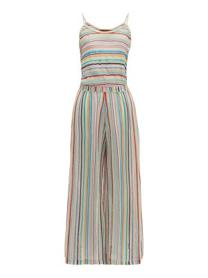 Missoni Mare striped knitted mesh jumpsuit
