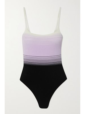 Missoni mare striped ribbed swimsuit