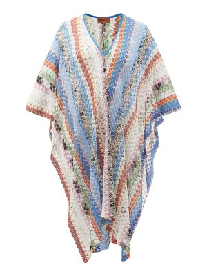 Missoni Mare v-neck abstract-jacquard knitted kaftan