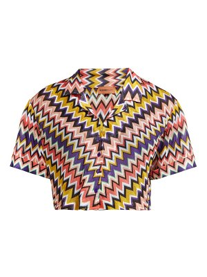 Missoni Mare zigzag short sleeved cropped shirt