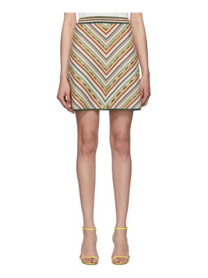 Missoni multicolor knit rainbow miniskirt