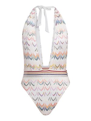 Missoni multicolor plunge one-piece swimsuit