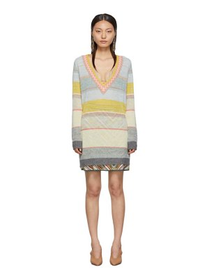 Missoni multicolor striped v-neck sweater