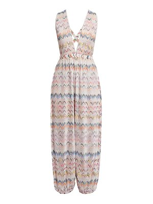 Missoni multicolor zigzag long overalls