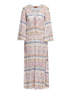 Missoni multicolor zigzag longline coverup