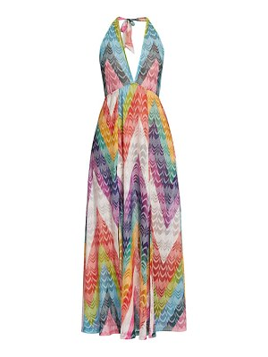 Missoni multicolor zigzag slit coverup