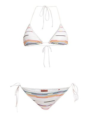 Missoni multicolor zigzag two-piece string bikini