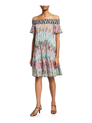 Missoni Off-the-Shoulder Printed Mini Dress