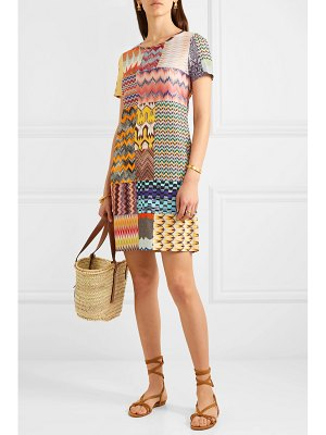 Missoni patchwork crochet-knit mini dress