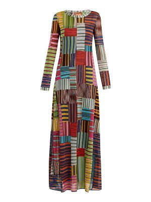 Missoni Patchwork Lamé round-neck dress
