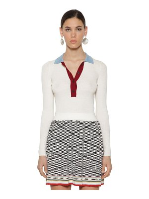 Missoni Polo wool ribbed knit sweater