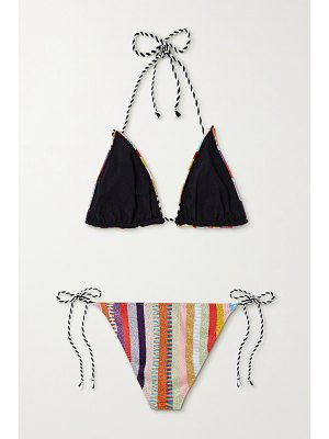 Missoni riga striped lurex triangle bikini