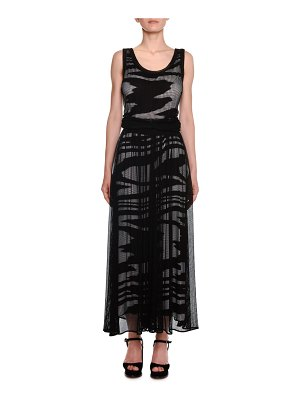 Missoni Scoop-Neck Sleeveless Space-Dye Mesh Long Dress