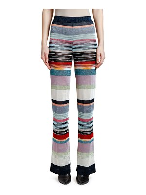 Missoni Shimmer-Striped Wide-Leg Pants
