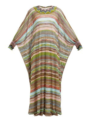 Missoni striped knitted mesh dress