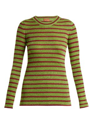 Missoni striped long sleeved knit top